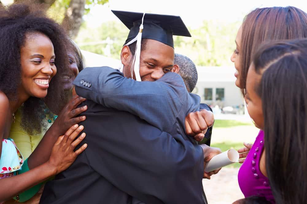 Boy graduating from university - graduation gift hamper ideas
