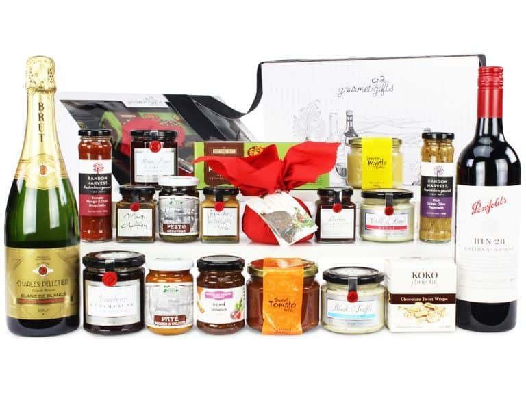 Image of the Ultimate Indulgence Christmas Hamper and all the products it contains
