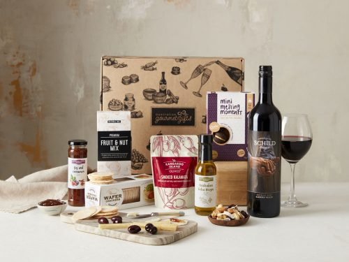 Displaying all the products contained in our Barossa Shiraz Hampers
