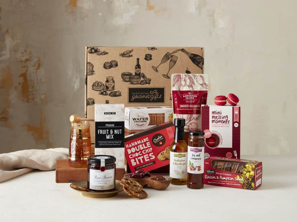 Displaying all the products contained in the Gourmet Connoisseur Hampers